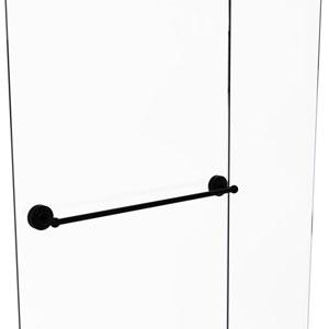 Monte Carlo Matte Black 30-Inch Shower Door Towel Bar