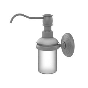 Monte Carlo Matte Gray Three-Inch Wall Mounted Soap Dispenser