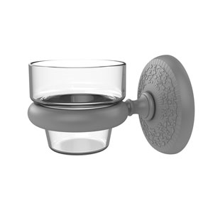 Monte Carlo Matte Gray Three-Inch Wall Mounted Votive Candle Holder