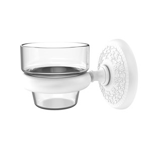 Monte Carlo Matte White Three-Inch Wall Mounted Votive Candle Holder