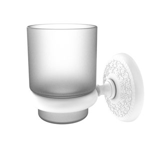 Monte Carlo Matte White Three-Inch Wall Mounted Tumbler Holder