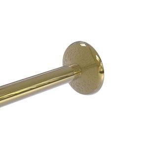 Monte Carlo Unlacquered Brass Three-Inch Shower Curtain Rod Brackets