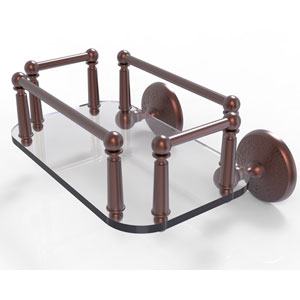 Monte Carlo Antique Copper Eight-Inch Wall Mounted Glass Guest Towel Tray