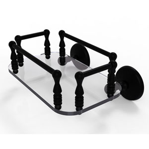Monte Carlo Matte Black Eight-Inch Wall Mounted Glass Guest Towel Tray