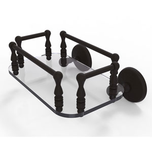 Monte Carlo Oil Rubbed Bronze Eight-Inch Wall Mounted Glass Guest Towel Tray