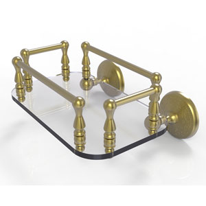 Monte Carlo Satin Brass Eight-Inch Wall Mounted Glass Guest Towel Tray