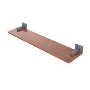 Montero Matte Gray 22-Inch Solid IPE Ironwood Shelf