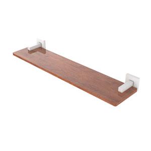 Montero Matte White 22-Inch Solid IPE Ironwood Shelf