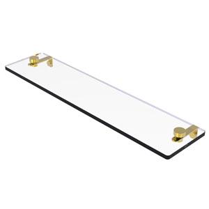 Montero Polished Brass 22-Inch Glass Vanity Shelf with Beveled Edges