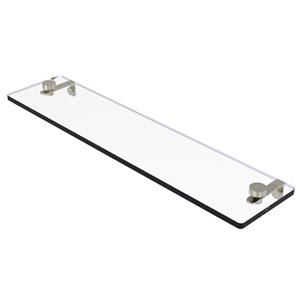 Montero Polished Nickel 22-Inch Glass Vanity Shelf with Beveled Edges