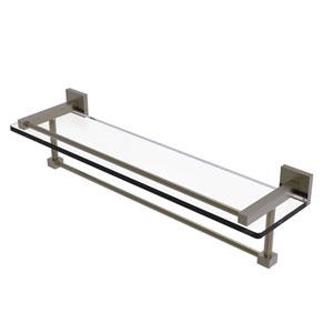 Montero Antique Brass 22-Inch Glass Shelf with Towel Bar