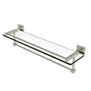 Montero Polished Nickel 22-Inch Glass Shelf with Towel Bar