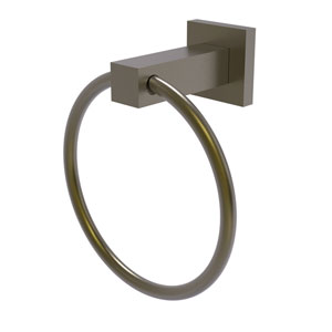 Montero Antique Brass Four-Inch Towel Ring