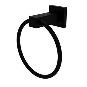 Montero Matte Black Four-Inch Towel Ring