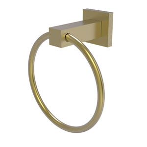 Montero Satin Brass Four-Inch Towel Ring