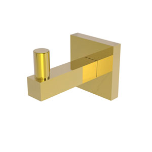 Montero Polished Brass Three-Inch Robe Hook