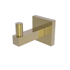 Montero Unlacquered Brass Three-Inch Robe Hook