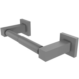Montero Matte Gray Four-Inch Two Post Toilet Tissue Holder