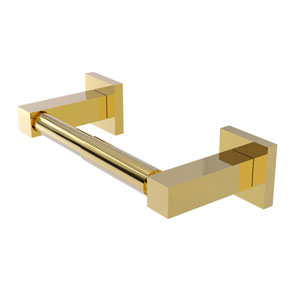 Montero Polished Brass Four-Inch Two Post Toilet Tissue Holder