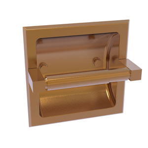 Montero Brushed Bronze Six-Inch Recessed Toilet Paper Holder