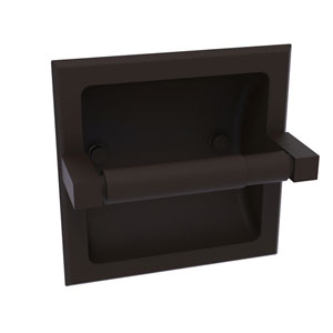 Montero Oil Rubbed Bronze Six-Inch Recessed Toilet Paper Holder