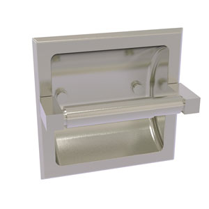 Montero Satin Nickel Six-Inch Recessed Toilet Paper Holder