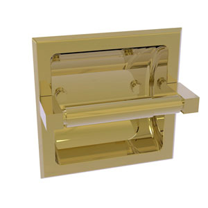 Montero Unlacquered Brass Six-Inch Recessed Toilet Paper Holder
