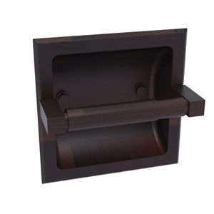 Montero Venetian Bronze Six-Inch Recessed Toilet Paper Holder