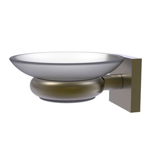 Montero Antique Brass Five-Inch Wall Mounted Soap Dish