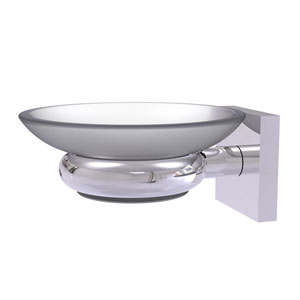 Montero Polished Chrome Five-Inch Wall Mounted Soap Dish
