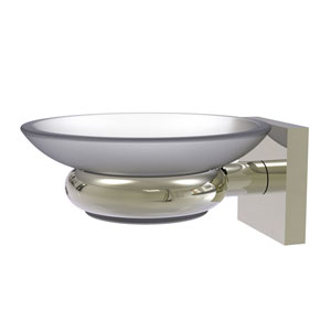 Montero Polished Nickel Five-Inch Wall Mounted Soap Dish