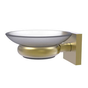 Montero Satin Brass Five-Inch Wall Mounted Soap Dish