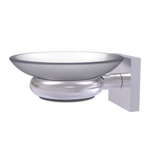 Montero Satin Chrome Five-Inch Wall Mounted Soap Dish