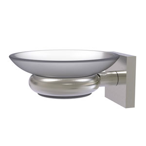 Montero Satin Nickel Five-Inch Wall Mounted Soap Dish