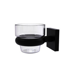 Montero Matte Black Four-Inch Wall Mounted Votive Candle Holder