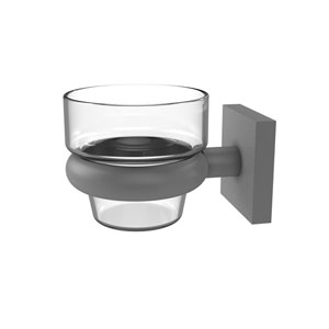 Montero Matte Gray Four-Inch Wall Mounted Votive Candle Holder