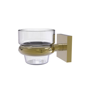 Montero Unlacquered Brass Four-Inch Wall Mounted Votive Candle Holder