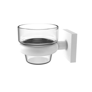Montero Matte White Four-Inch Wall Mounted Votive Candle Holder