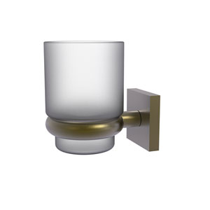 Montero Antique Brass Four-Inch Wall Mounted Tumbler Holder