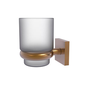 Montero Brushed Bronze Four-Inch Wall Mounted Tumbler Holder
