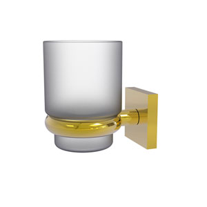 Montero Polished Brass Four-Inch Wall Mounted Tumbler Holder