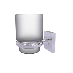 Montero Polished Chrome Four-Inch Wall Mounted Tumbler Holder