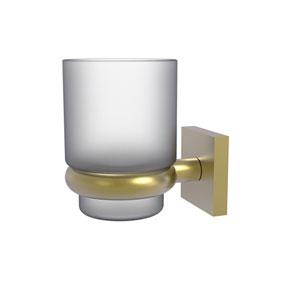 Montero Satin Brass Four-Inch Wall Mounted Tumbler Holder