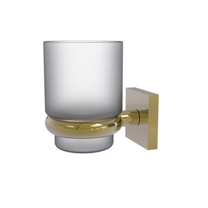 Montero Unlacquered Brass Four-Inch Wall Mounted Tumbler Holder