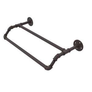 Pipeline Oil Rubbed Bronze 18-Inch Double Towel Bar