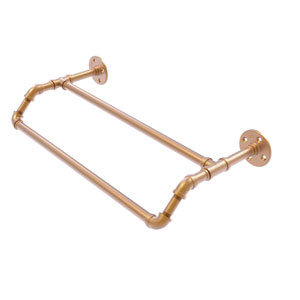 Pipeline Brushed Bronze 24-Inch Double Towel Bar
