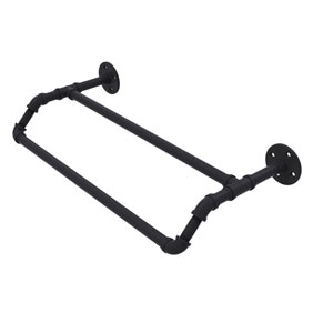 Pipeline Matte Black 24-Inch Double Towel Bar