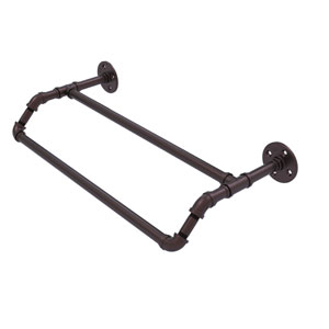 Pipeline Antique Bronze 30-Inch Double Towel Bar