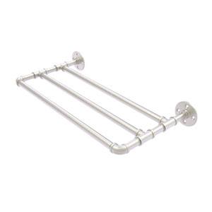Pipeline Satin Nickel 30-Inch Wall Mounted Towel Shelf