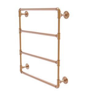 Pipeline Brushed Bronze 24-Inch Wall Mounted Ladder Towel Bar
